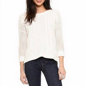 Madewell Plaza White Pullover Sweater L
